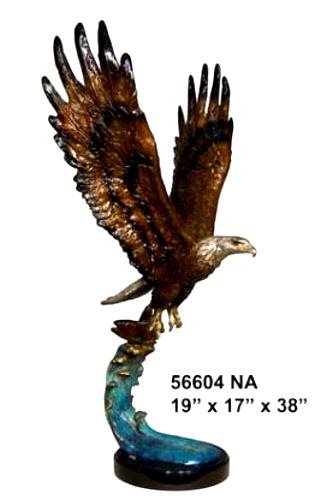 Bronze Eagle Statues   Bird of Prey - AF 56604NA