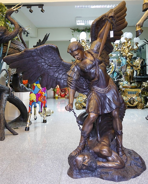 Bronze Michael Arc Angel Statue - AF 56635
