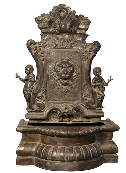 Bronze Lion Wall Fountain - AF 56653