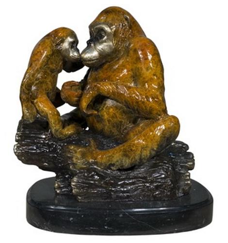 Bronze Gorilla Statue - AF 56719NA