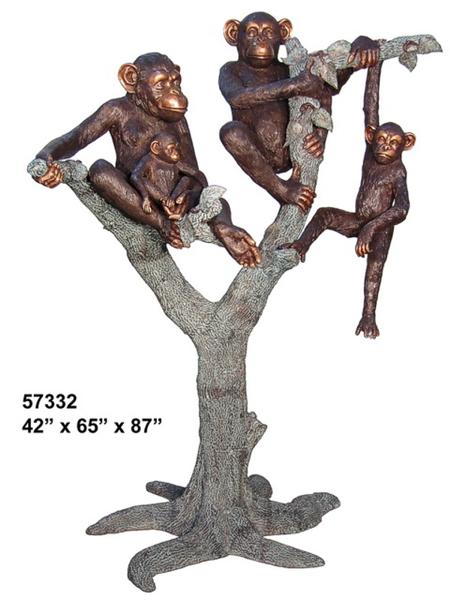 Bronze Monkey Statue - AF 57332