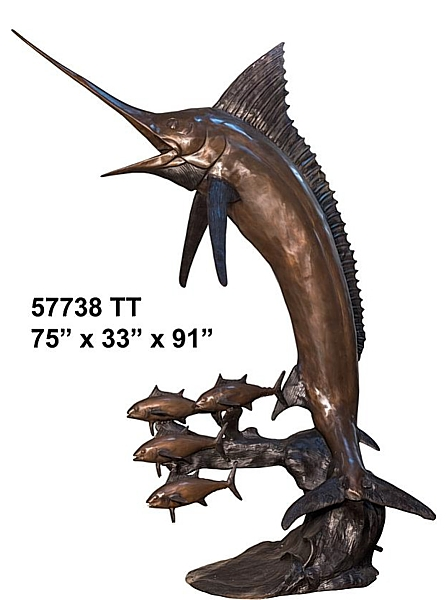Bronze Marlin Fountain - AF 57738 TT