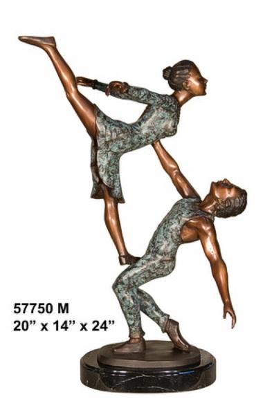 Bronze Dancers Statues - AF 57750M