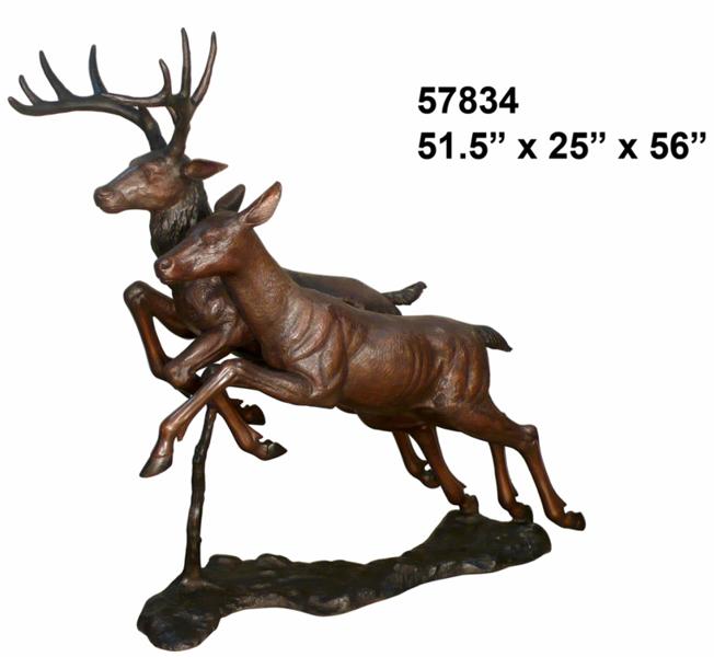 Bronze Deer Buck Statues - AF 57834