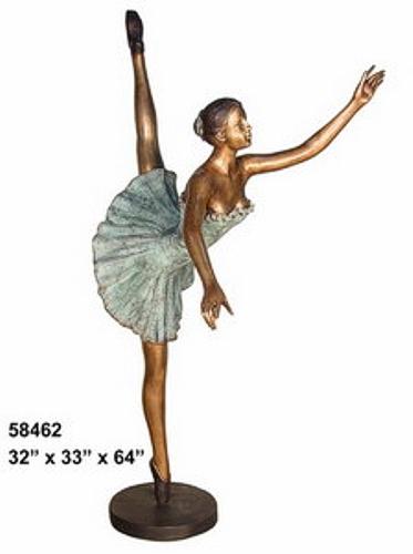 Bronze Ballerina Statue - AF 58462