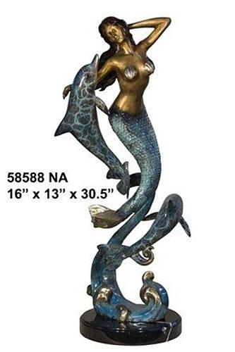 Bronze Mermaid Statue - AF 58588NA