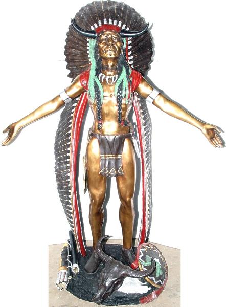 Bronze Indian Chief Statue - AF 70077