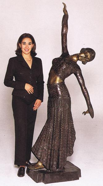 Bronze Coin Dancer Statue - ASB 712