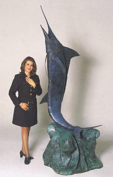 Bronze Swordfish Fountain - ASB 734