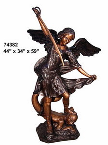 Bronze Michael Arc Angel Statue - AF 74382