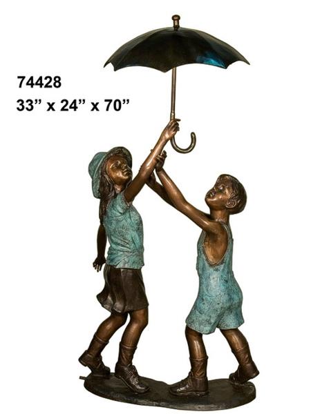Bronze Kids Umbrella Fountain - AF 74428