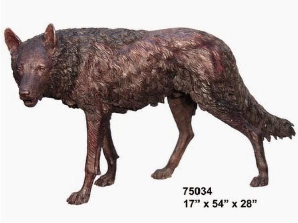 Bronze Wolf Statue - AF 75034