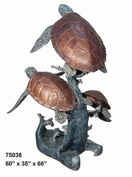 Bronze Turtle Fountain - AF 75038