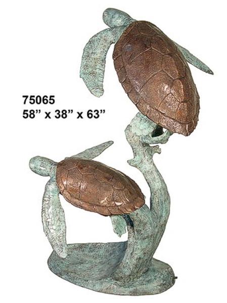 Bronze Turtle Fountain - AF 75065
