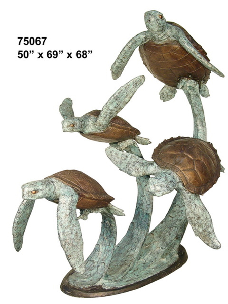 Bronze Turtle Fountain - AF 75067