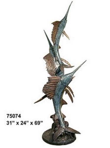 Bronze Sailfish Fountain - AF 75074