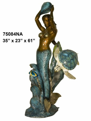 Bronze Mermaid Fountains | Bronze Mermaid Statues - AF 74200NA