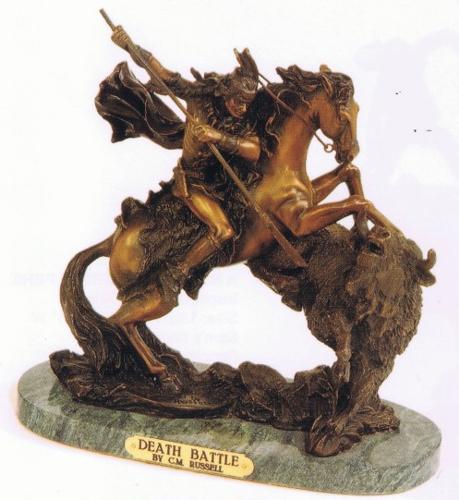 Bronze Death Battle Statue - ASB 759