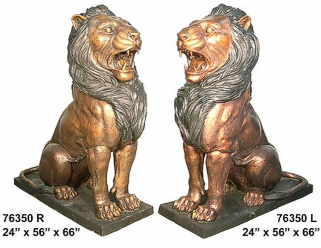 Bronze Lion Statues - AF 76350