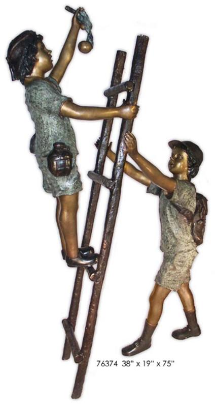 Bronze Children Statues - AF 76374
