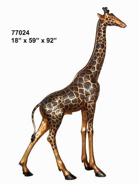 Bronze Giraffe Statue - AF 77024
