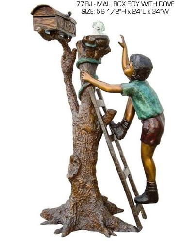 Bronze Children's Themed Mailbox - ASB 778J