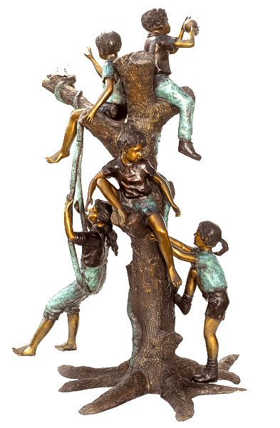 Bronze Children Statues - ASB 794