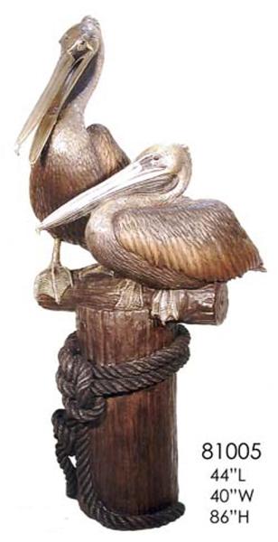 Bronze Pelican Statues - AF 81005
