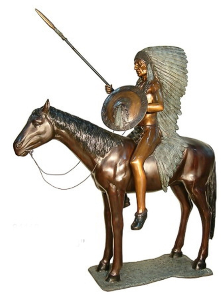 Bronze Indian Chief Statue - AF 81119