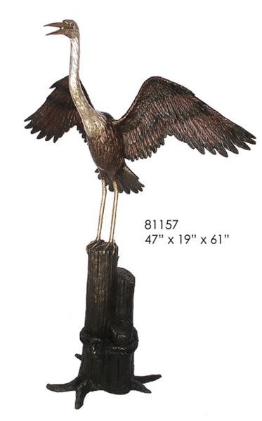 Bronze Crane Fountains - AF 81157