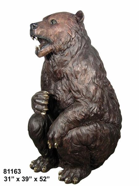 Bronze Bear Statues - AF 81163