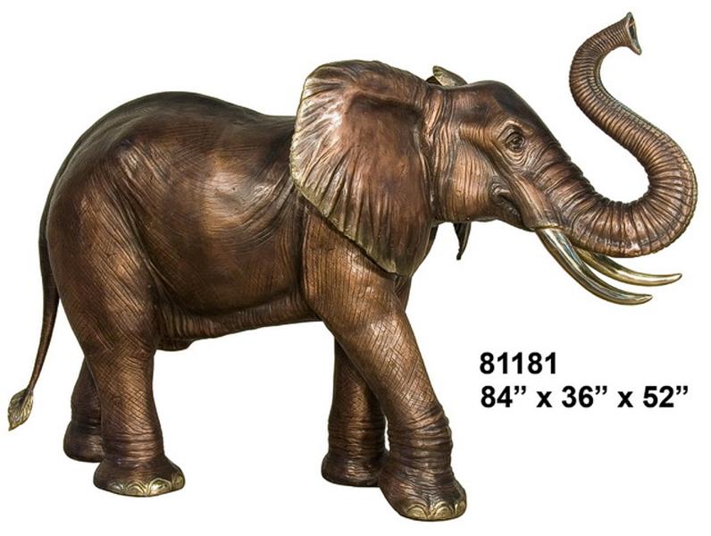 Bronze Elephant Statue - AF 81181