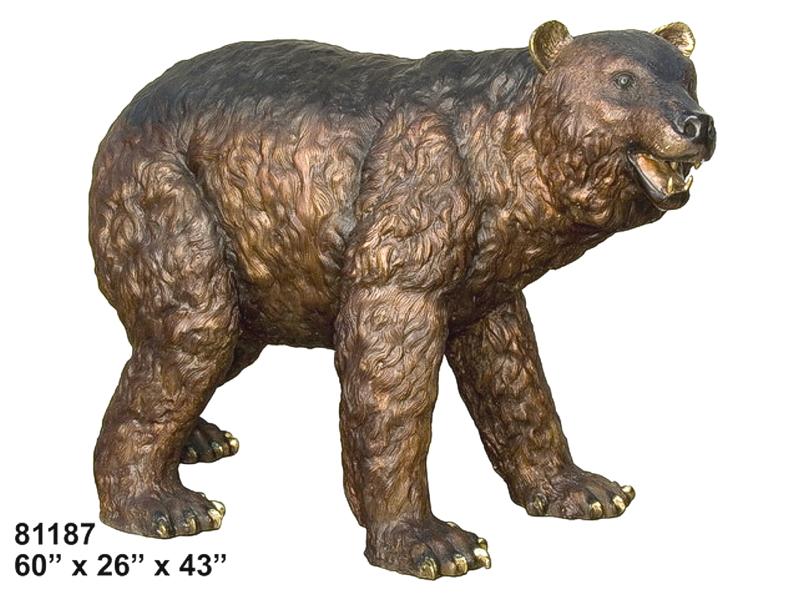 Bronze Bear Statues - AF 81187