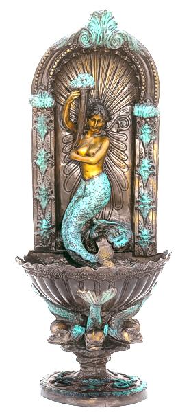 Bronze Mermaid Wall Fountain - ASB 829