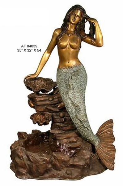 Bronze Mermaid Fountains   Bronze Mermaid Statues - AF 84039
