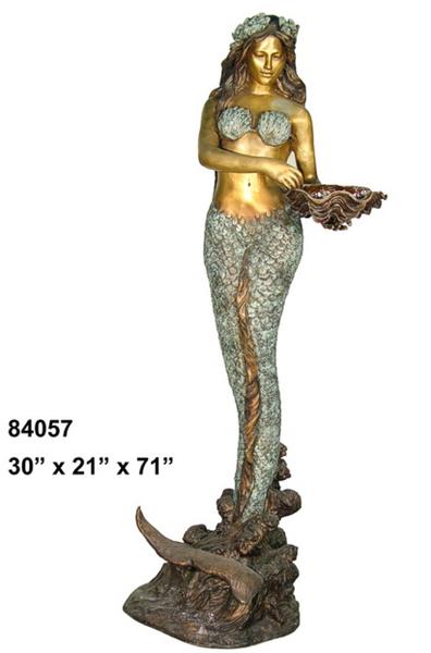 Bronze Mermaid Fountains   Bronze Mermaid Statues - AF 84057