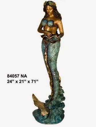 Bronze Mermaid Fountains   Bronze Mermaid Statues - AF 84057NA