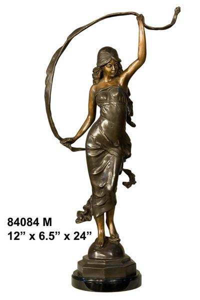Bronze Dancing Lady Statue - AF 84084M