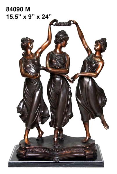 Bronze Ladies Dancer Statue - AF 84090M