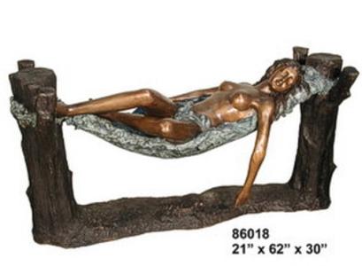 Bronze Nude Lady Table Base - AF 86018