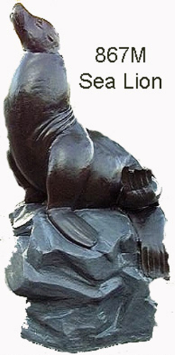 Bronze Seal Fountain/Statue - ASB 867