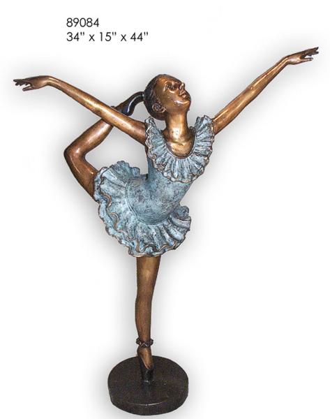 Bronze Ballerina Statue - AF 89084