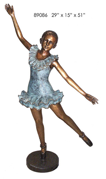 Bronze Ballerina Statue - AF 89086