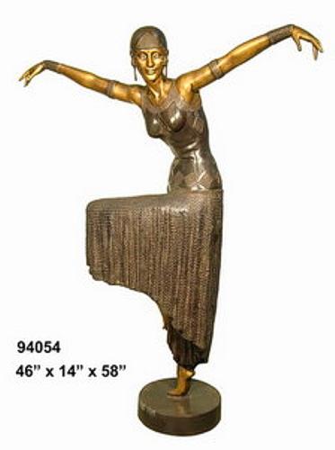 Bronze Dancing Lady Statue - AF 94054