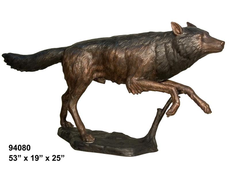 Bronze Wolf Statue - AF 94080