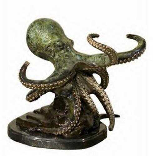 Bronze Octopus Statue - AF 94120NA