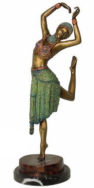 Bronze Dancing Lady Statue - AF 94157NA