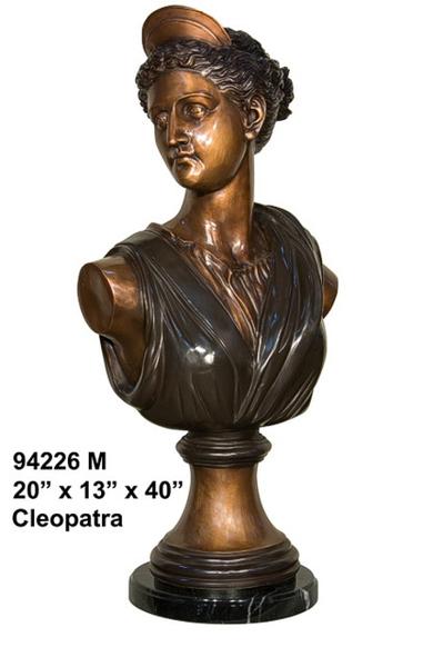 Bronze Cleopatra Bust - AF 94226M