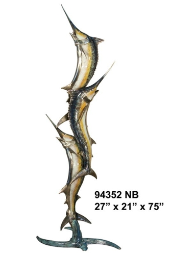 Bronze Swordfish Fountain - AF 94352NB