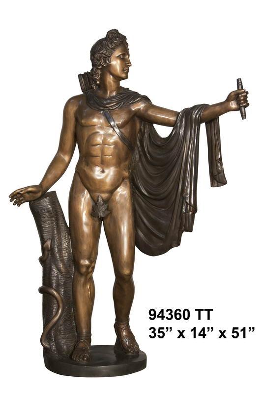 Bronze Philospher Statue - AF 94360TT